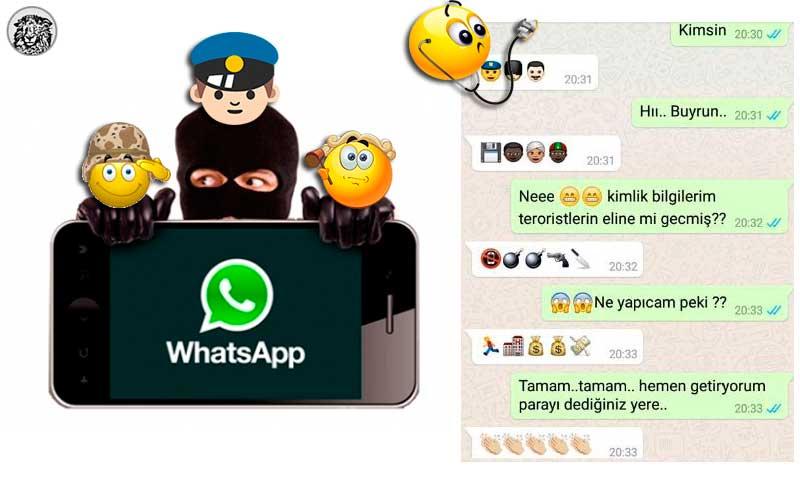 Telefon Dolandırıcıları Bu Kez de Whatsapp'ta, Kendilerini Emojiyle Polis Asker Savcı Gibi Tanıtarak Bir Doktoru Dolandırmayı Başardı.
