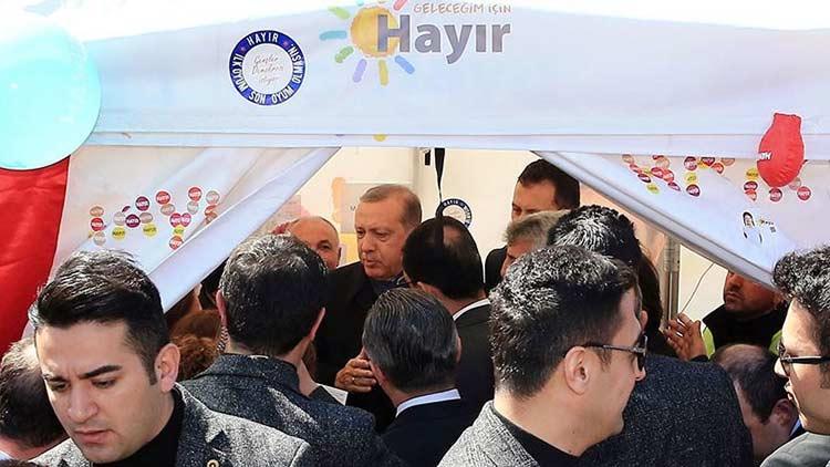 Cumhurbaşkanı Erdoğan'ın ziyaretinden sonra hayırcıların terörist olmadığını öğrenen yargı mensupları ikiye bölündü.