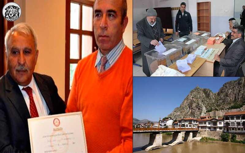Oy Verme İşleminin Gece 00.15'te Başladığı Amasya'da, AKP'li Vekiller Mazbatasını Alarak Göreve Başladı...