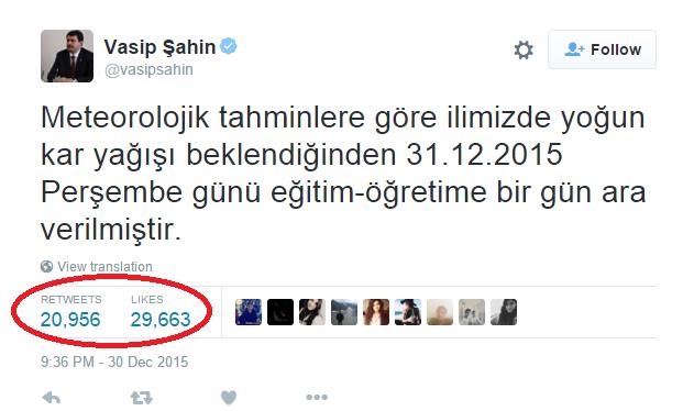 İstanbul'da kar yağışının başlaması en çok vali Vasip Şahin'i sevindirdi...