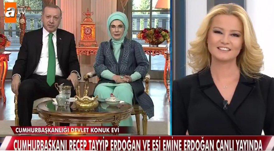 Erdoğan çifti yurt dışında yaşayan oğulları Burak Erdoğan'a, Müge Anlı aracılığıyla seslendi..