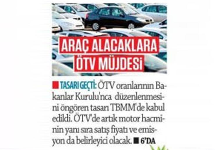 """ÖTV'nin %168e çıkarılmasını müjdeli haber olarak duyuran Güneş'ten açıklama: """"Kendinize 1,  devlete 2 araba almış oluyorsunuz, bundan büyük bir mutluluk olabilir mi?"""""""