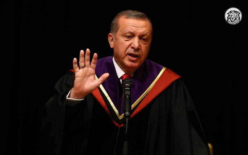 Cumhurbaşkanı Erdoğan: Yeterince fahri doktoram var. Derslere artık ben gireceğim.