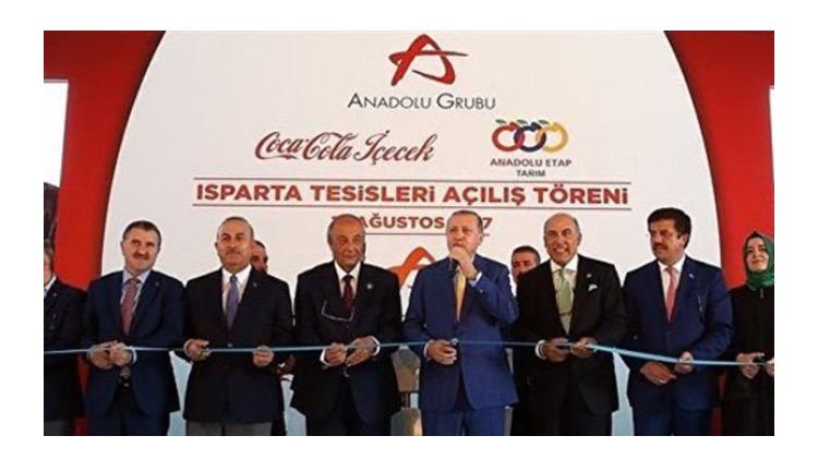 """Erdoğan Isparta Coca Cola tesislerinin açılışında  konuştu: """"Soğuk içiniz."""""""