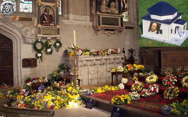 İngiltere'de Müslüman Bir Grup, Shakespare'in Mezarına Türbe İnşa Ederken Gözaltına Alındı...