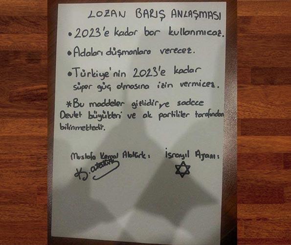 Lozan Anlaşması'nın orjinal tam metni yarın gazeteniz Takvim'de...