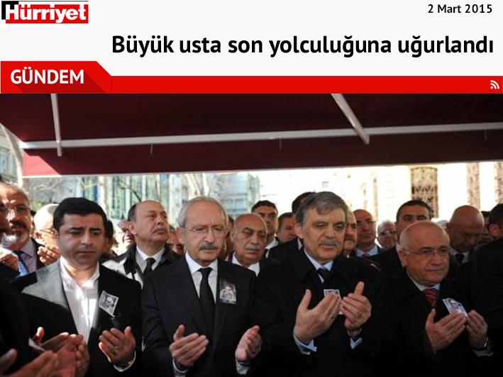 """Yaşar Kemal'in Cenaze Töreni İçin """"Büyük Usta'ya Veda"""" Başlığını Atan Gazetelere Cumhurbaşkanı Erdoğan'a Hakaretten Soruşturma Açılıyor…"""