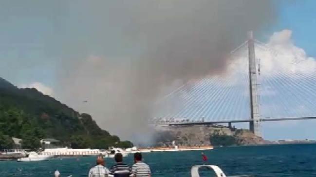 3.Köprü yakınında çıkan yangın yeteri kadar alanı kül ettikten sonra ivedilikle söndürüldü.