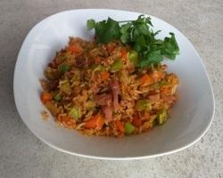 Korean Inspired Gochujang Ham Fried Rice