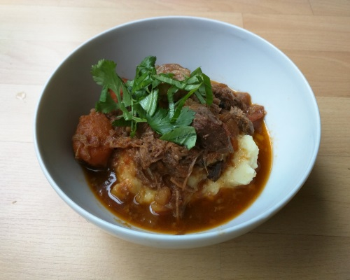 Vietnamese Beef Stew over Mash Potatoes