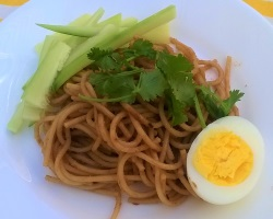 Noodles with Gochujang and Egg