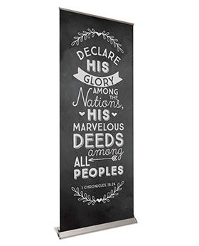 Chalk Board Retractable Banners