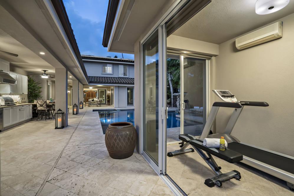 24.  exercise room adjacent to outdoor kitchen 4551 aukai avenue