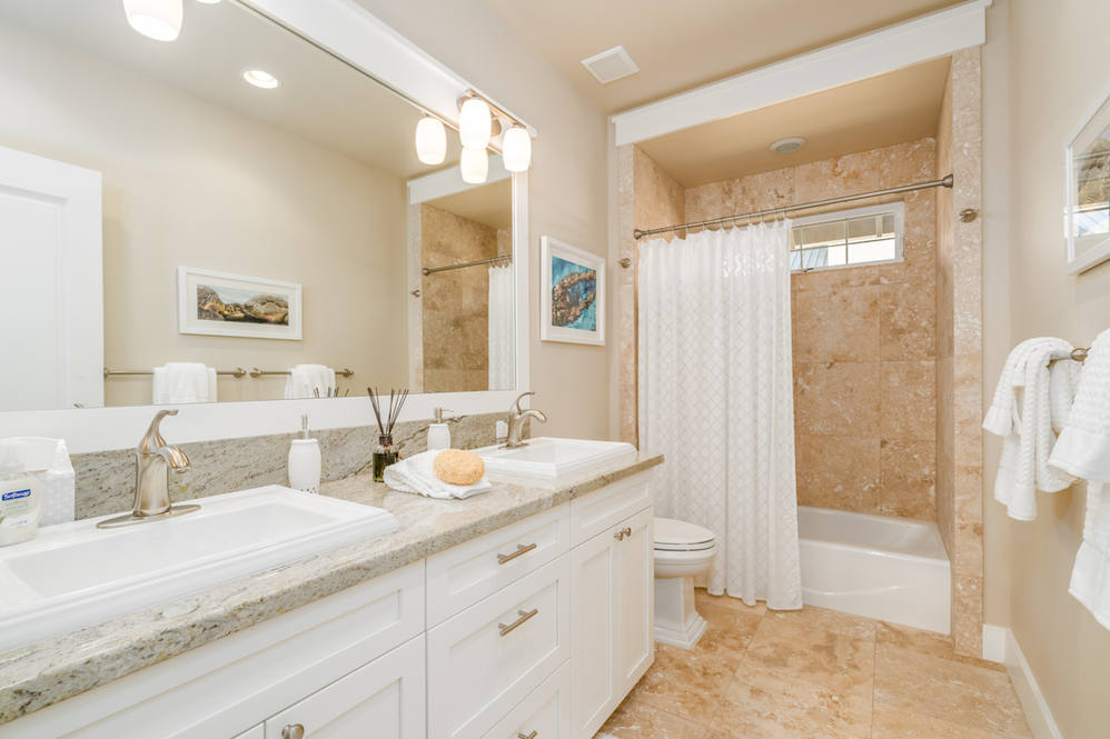 Guest bath   double sinks