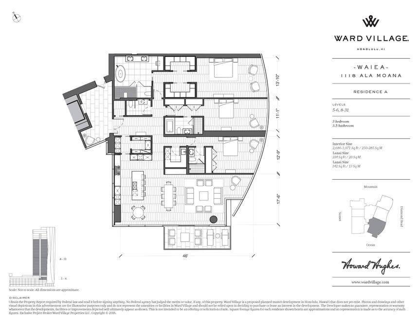 18. waiea residence a floorplan 1118 ala moana blvd  17a