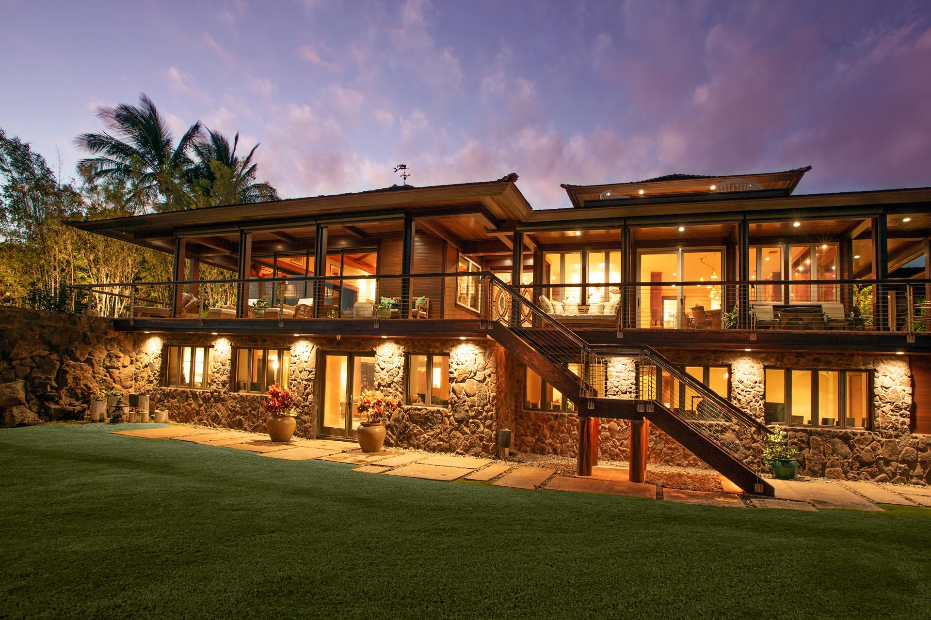 main house at Lanai Oceanview Estate at Manele Bay