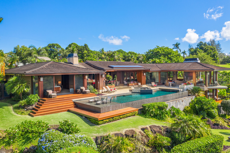 swimming pool at 5121 hanalei plantation road kauai hawaii