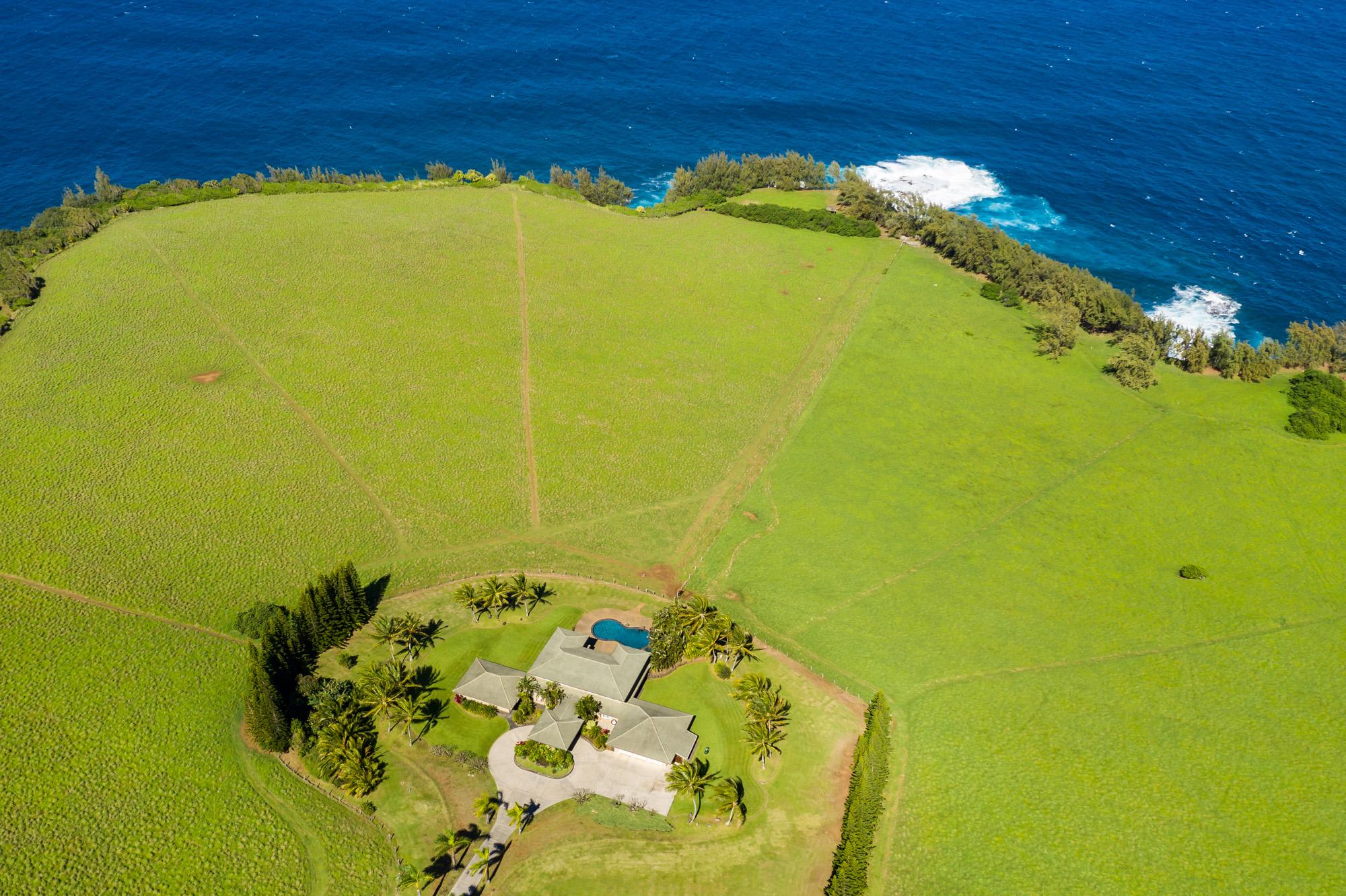 aerial house view of 600 Haumana maui hawaii