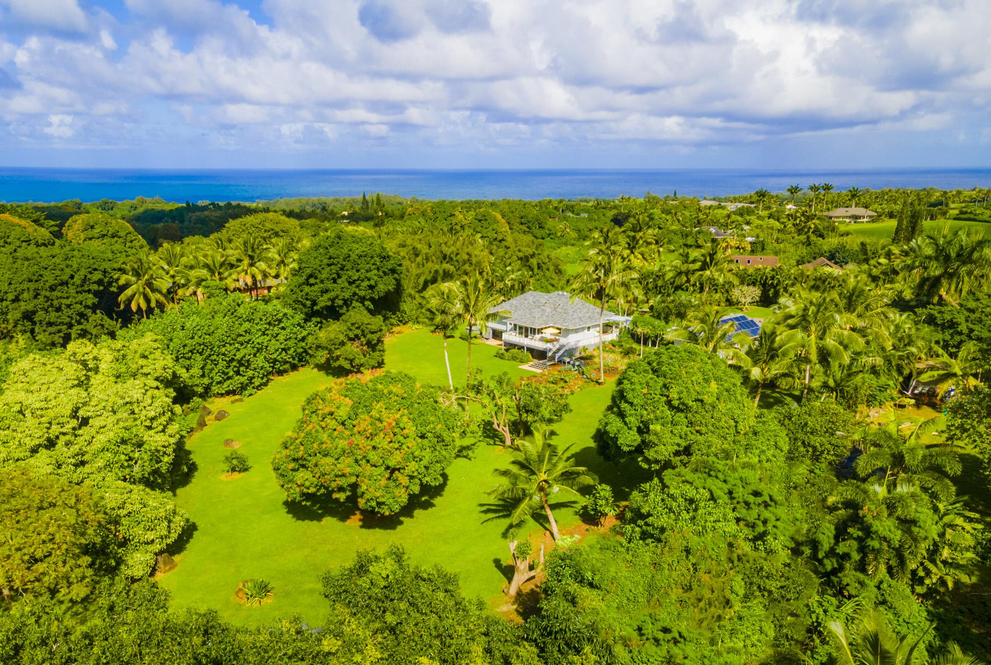 3 acre sanctuary 7475-E Koolau Road D in kauai north shore hawaii