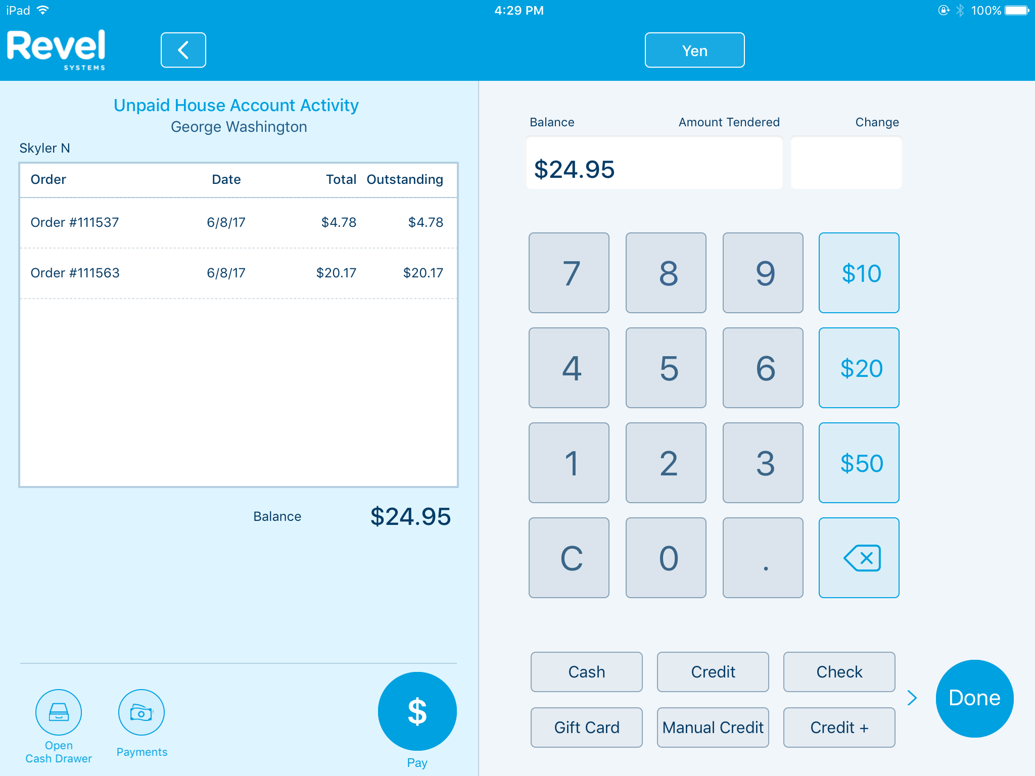 Us/customer/account/create - On The Left Side You Will See All Unpaid House Account Transactions As Well As A Total Balance