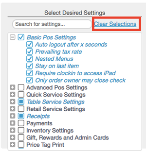 Receipt Settings Overview – Revel Systems Help Site