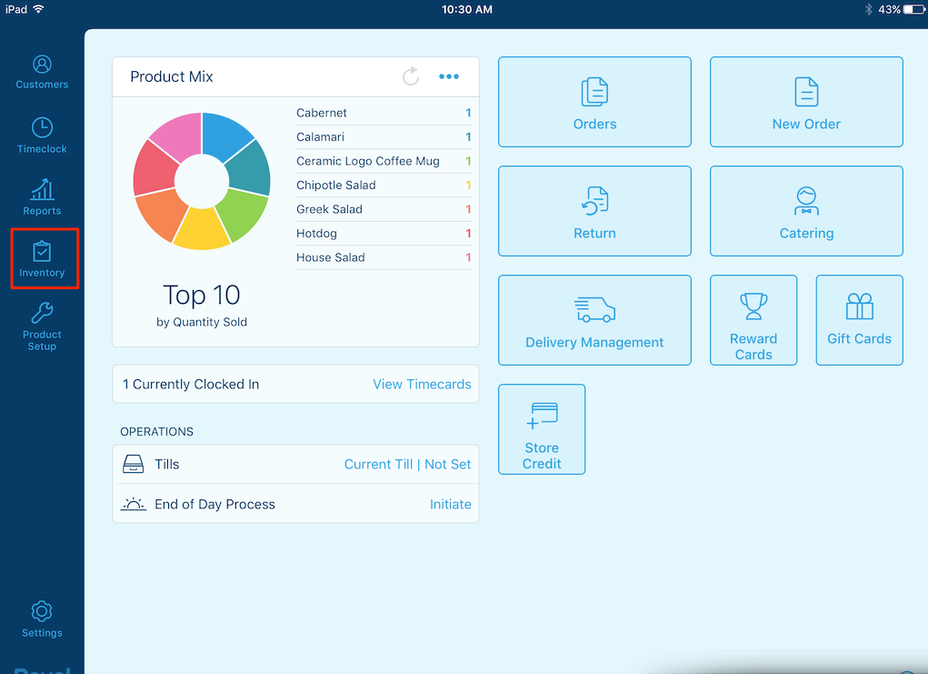 Inventory Management On Ipad Feature For Qsr Tsr Revel