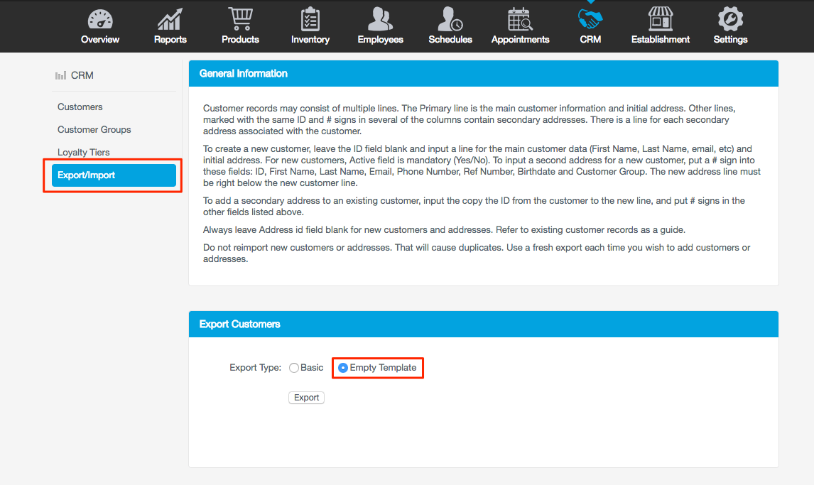 CRM Export/Import Guide – Revel Systems Help Site