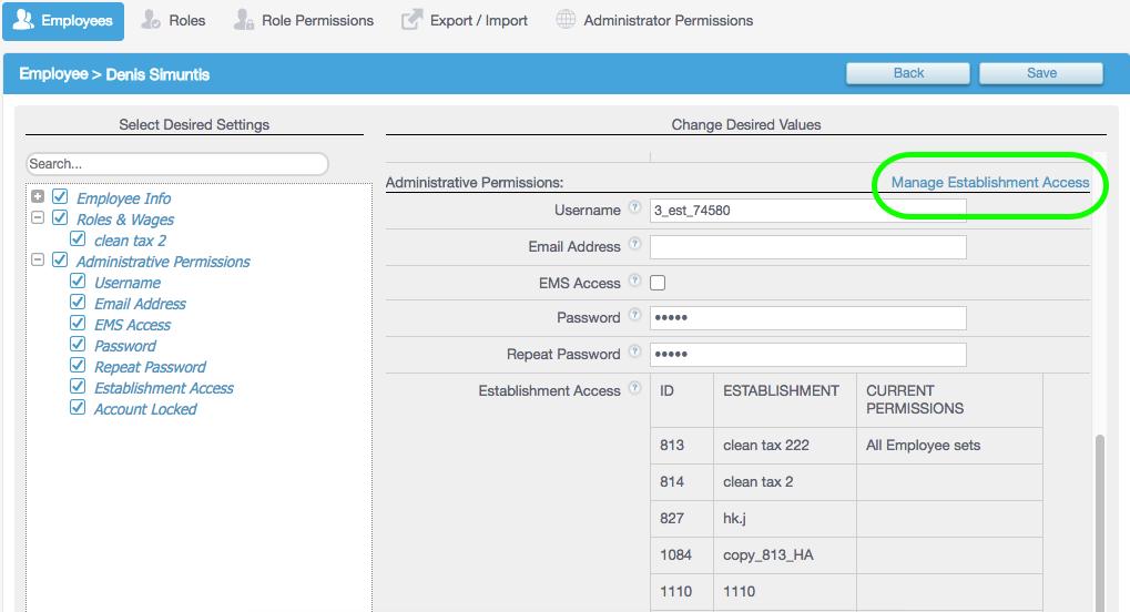 EMS_Employee_Details_Manage_Establishment_Access_Button.png