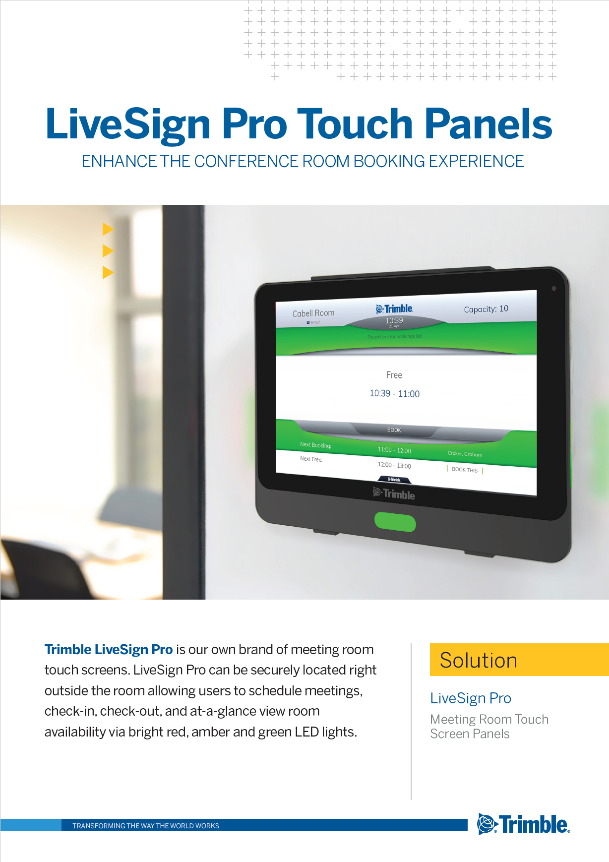 LiveSign Pro – Meeting Room Touch Screen Panels