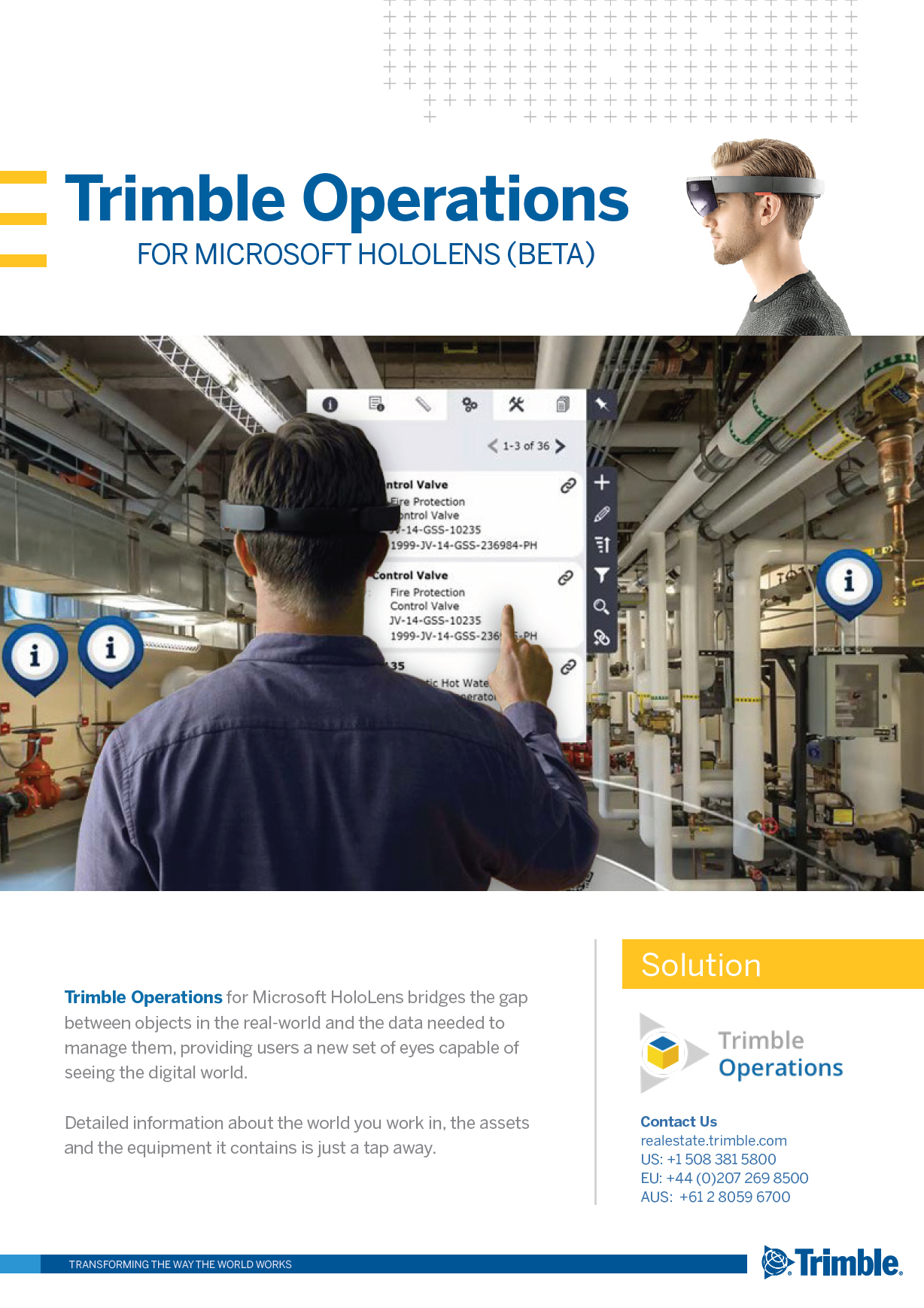 Operations for Microsoft HoloLens – Augmented Reality