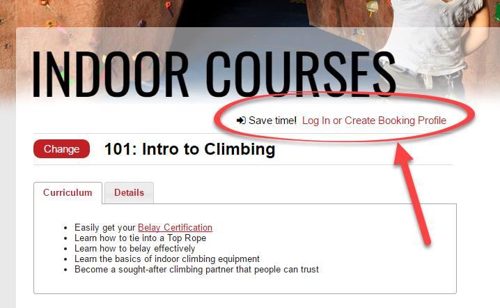 Express Online Booking - Rock Gym Pro