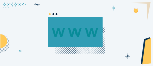 Vector illustration of a computer screen with WWW on it.