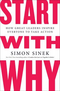"""The cover of """"Start With Why"""" by Simon Sinek"""