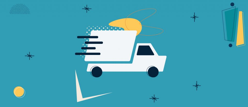 Vector illustration of a delivery truck