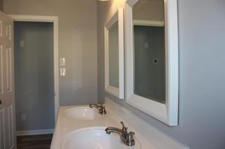 New Full bath double sinks