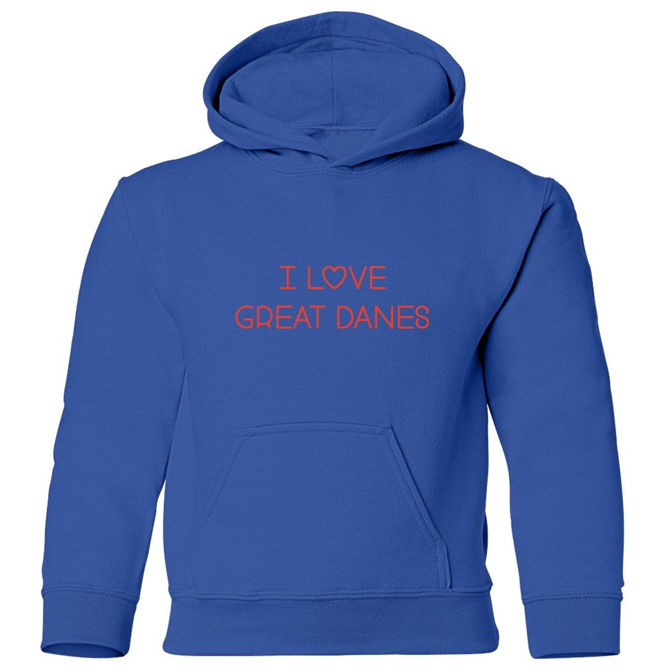 Mashed Clothing I Love Great Danes Kids Hooded Sweatshirt at Sears.com