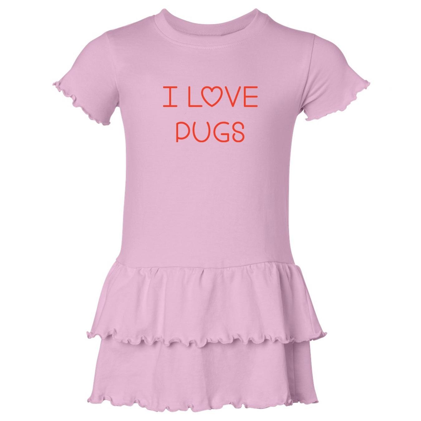 Mashed Clothing I Love Pugs Toddler Ruffle Dress at Sears.com