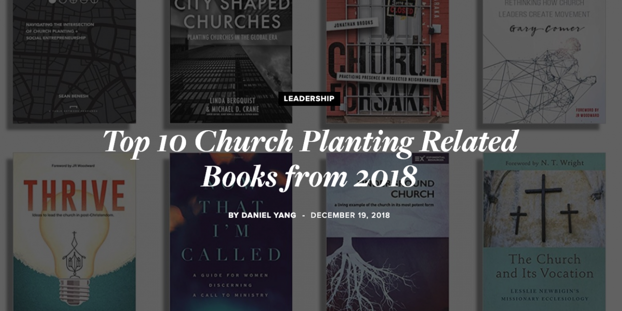 """""""Thrive"""" Makes Top Ten Church Planting Books of 2018 List from SEND"""