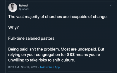Churches Can't Accommodate Change Because Pastors Won't Take the Risk