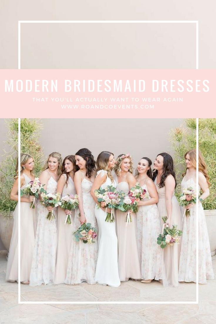 PINTEREST PIC 1 - Modern Bridesmaid Dresses