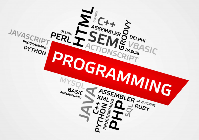 A word of programming in the middle of many names of programming languages.