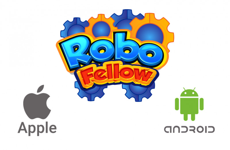 Cartoon image to show RoboFellow on various operating systems.