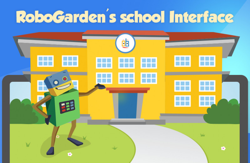 cartoon image showing robogarden