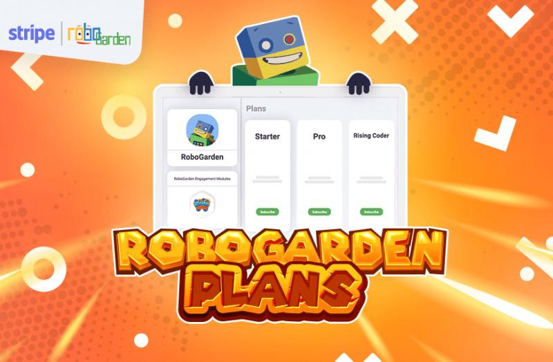 cartoon image showing robogarden