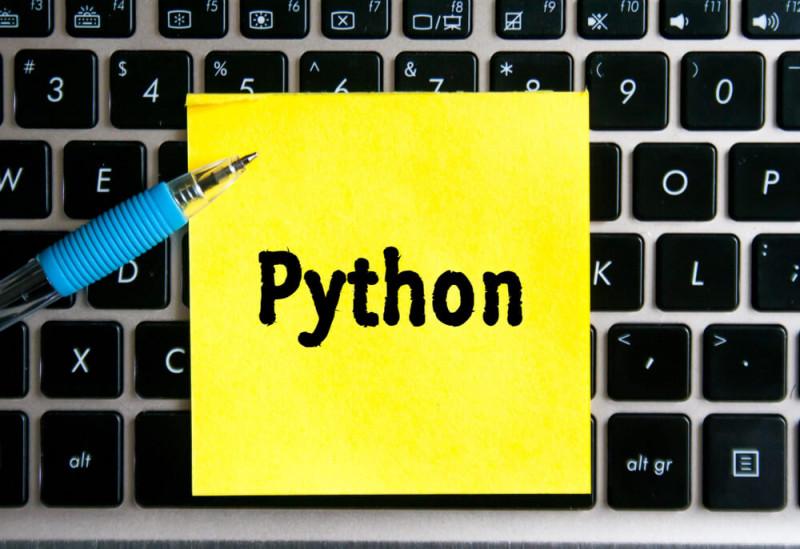 Image showing a word of programming language Python