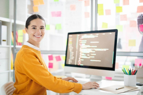image shows the Female Programmer
