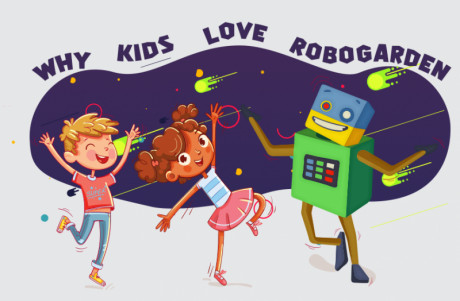 Kids are happy with Robo Garden