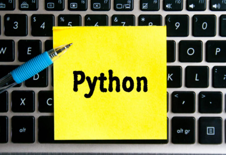 Image showing a word of programming language Python