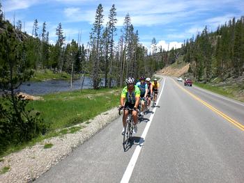 biking in yellowstone