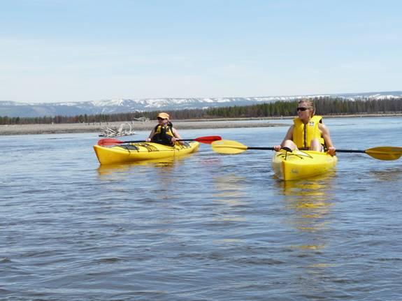 kayaking in yellowstone